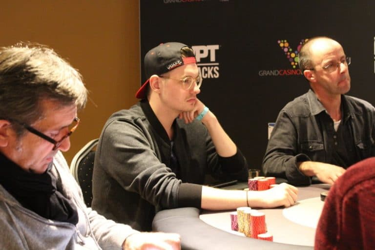 Jakub Wojtas at the final table of the WPT 500 in Aria!