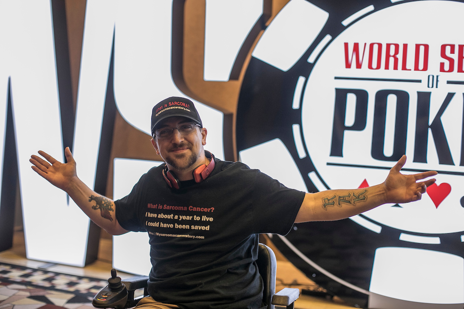 Kevin Roster, a terminally ill poker player: Go back to the WSOP and die.