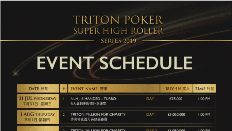 Boris Becker at the Triton Poker Millions in London