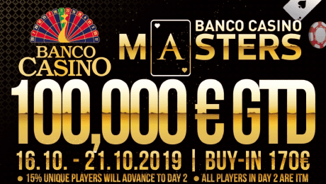 Banco Casino Masters go into their 20th edition - €100,000 guaranteed!