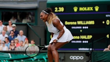 Williams is defeated in Wimbledon finals