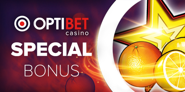 Optibet Casino Special Bonus