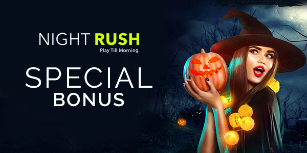 NightRush Casino Special Bonus